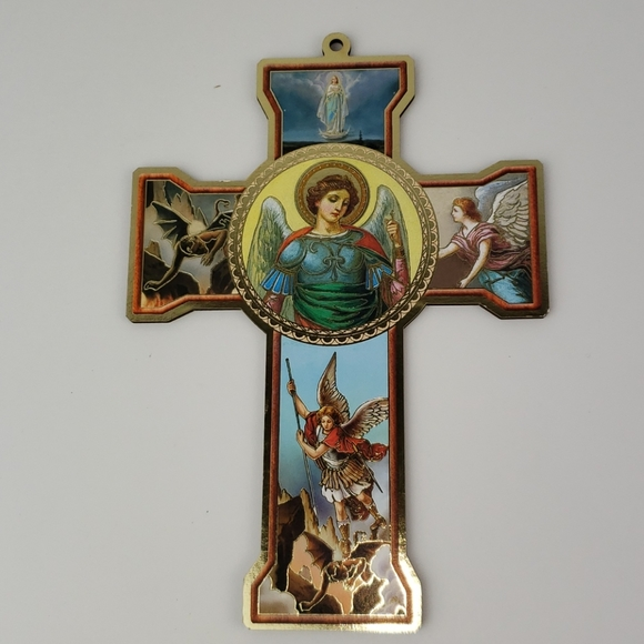 Wall Cross Saint Michael Archangel (NEW ITEM)